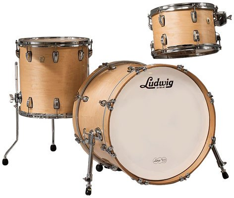"""Ludwig Drums L8303AX0N Classic Maple Downbeat 3 Piece Shell Pack in Natural Finish: 12"""", 14"""" Toms, 14""""x20"""" Bass Drum L8303AX0N"""
