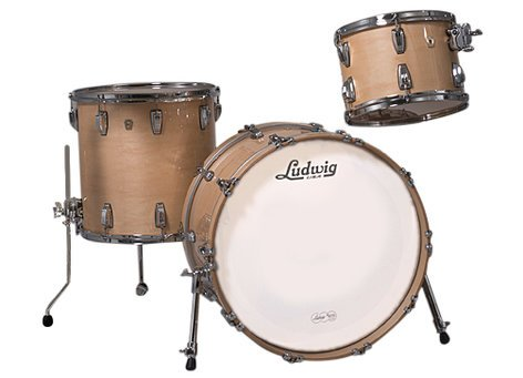 "Ludwig Drums L8323AX0NWC Classic Maple Fab 22 3 Piece Shell Pack in Natural Finish: 13"", 16"" Toms, 14""x22"" Bass Drum L8323AX0NWC"