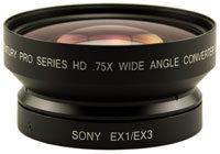 Century Optics 0HD-75CV-EX3  0.75x HD Wide Angle Converter Lens with Bayonet Mount 0HD-75CV-EX3