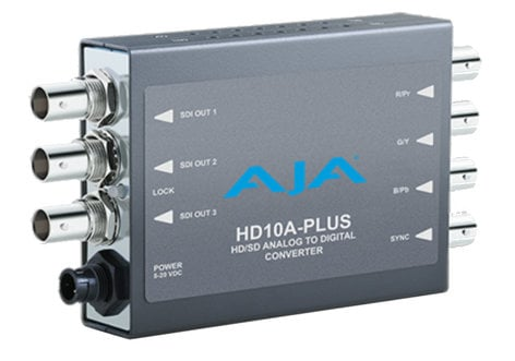 AJA Video Systems Inc HD10A-Plus HD Analog to SD/HD-SDI Digital Mini Converter HD10A-PLUS