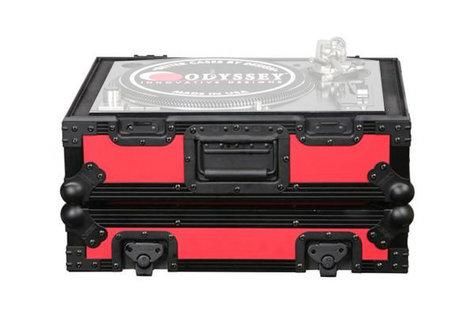 Odyssey FR1200BKRED  Designer DJ Series Case for Technics Turntables FR1200BKRED