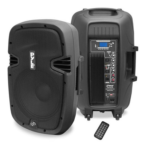 """Pyle Pro PPHP1237UB 12"""" 900W (Peak) Active 2-Way PA Speaker with Bluetooth Connectivity PPHP1237UB"""