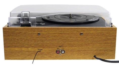 Pyle Pro PVNTTR22 3-Speed Retro Belt-Drive Turntable with AM/FM Radio PVNTTR22