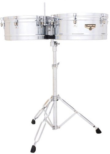 Latin Percussion M257 Matador Series Timbales in Chrome M257