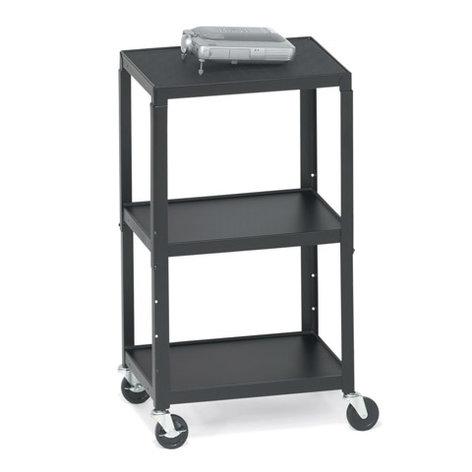 Bretford Manufacturing A2642 Height-Adjustable AV Cart A2642
