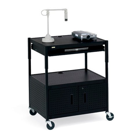 Bretford Manufacturing ECILS3FF-BK  Cabinet Projector Cart with Electrical Unit ECILS3FF-BK