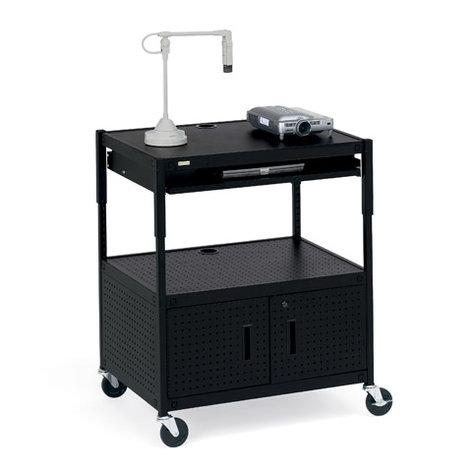 Bretford Manufacturing ECILS3-BK Cabinet Projector Cart ECILS3-BK