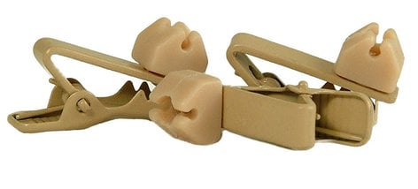 WindTech TC-10  Soft Rotating Lavalier MicrophoneTie Clips 3 Pack in Tan TC-10