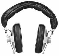 Beyerdynamic DT100-16/BLACK Headphones, 16 Ohm, Black (Grey shown) DT100-16/BLACK