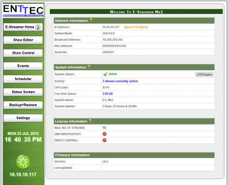 Enttec 70724 E-Streamer Mk 2 - 4-Universe License 70724