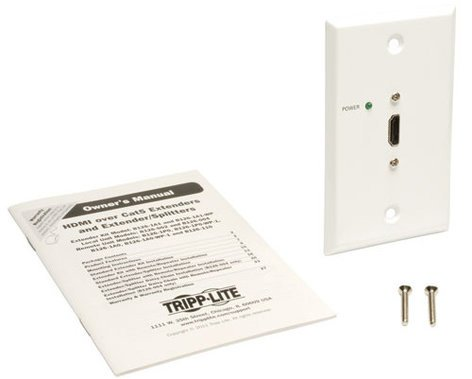 Tripp Lite B126-1P0-WP-1 HDMI Over Cat5 Passive Extender Remote Wall Plate B126-1P0-WP-1