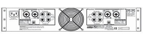 Inter-M Americas Inc QD-4480 4 x 80W Quad Channel Amplifier QD-4480