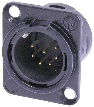 Neutrik NC7MDL-B-1  7-Pin XLR-M Connector with Black Housing and Gold Contacts NC7MDL-B-1