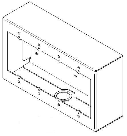 FSR SMWB-4G-WHT 4 Gang Surface Mount Wall Box in White SMWB-4G-WHT