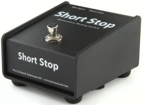 Pro Co CDSS Short Stop Momentary  Microphone Muting Footswitch COUGHDROP-SHORTSTOP