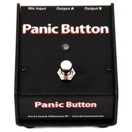 Pro Co COUGHDROP-PANICBUTTN CDPB Panic Button Active Multi-Function Microphone Muting/A-B Footswitch COUGHDROP-PANICBUTTN