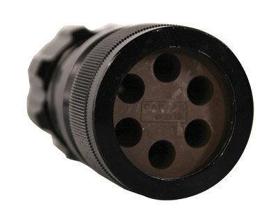 Lex Products Corp LSC19-LMC-SPR 19-Pin 6-Circuit Male Spider Inline Crimp Connector LSC19-LMC-SPR