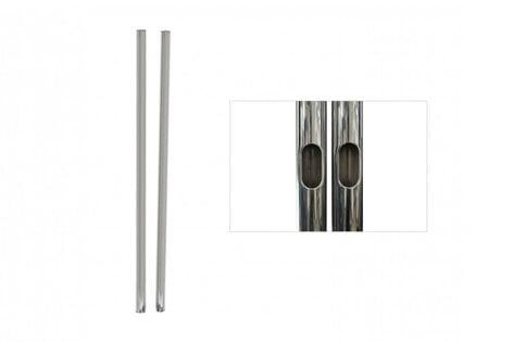"Premier Mounts T60  1 Pair of 60"" H Replacement Chrome Poles for PSD-TS60 T60"