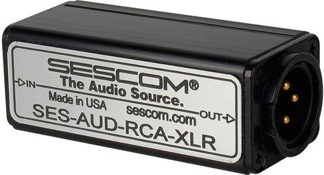 Sescom SES-AUD-RCA-XLR RCA Unbalanced to XLR Balanced Audio Converter SES-AUD-RCA-XLR
