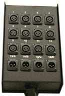 RapcoHorizon Music S16MBPR  16-Channel Microphone Stage Box, Pre-Punched with Relief S16MBPR