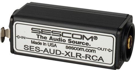Sescom SES-AUD-XLR-RCA  XLR Female Balanced to RCA Unbalanced Audio Converter SES-AUD-XLR-RCA