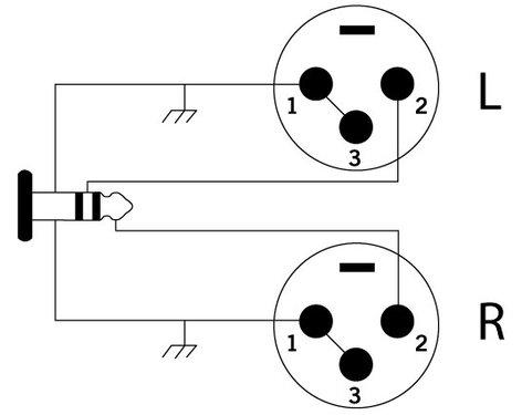 Cable Up by Vu YS-M3-XM3D-5-BLK 5 ft 3.5mm TRS-M to Dual XLR-M Y-Cable YS-M3-XM3D-5-BLK