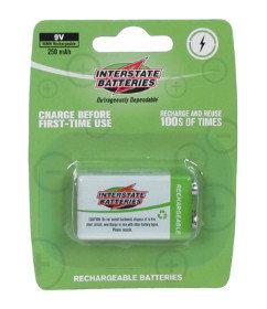 Interstate Battery NIC5117  Single 9V 250MAH Battery NIC5117