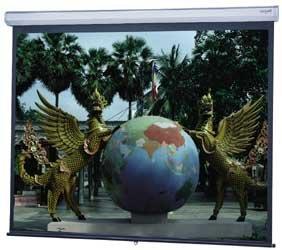 """Da-Lite 34734  69""""x110"""" (130"""" Diagonal) Wide Model C Matte White Screen with Controlled Screen Return 34734"""