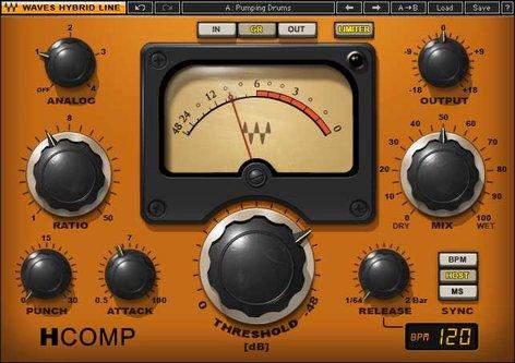Waves H-Comp Hybrid Compressor Plugin HCOMPTDM