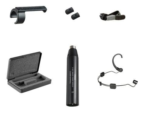 Audio-Technica BP894cL4 Subminiature Cardioid Condenser Headworn Microphone with Sennheiser Lemo 3-Pin Connector in Black BP894CL4