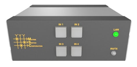 Matrix Switch Corporation MSC-HD41L 3G/HD/SD-SDI 4x1 Mini Routing Switcher MSC-HD41L