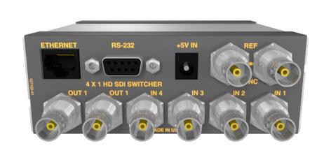Matrix Switch Corporation MSC-HD41L 3G/HD/SD-SDI 4x1 Mini Routing Switcher MSC-HD41L