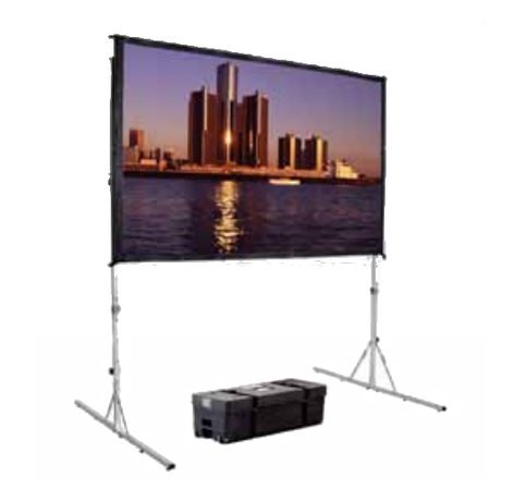 """Da-Lite 88692KHD  69"""" x 120"""" Fast-Fold Deluxe Projection Screen with Dual Vision Surface 88692KHD"""