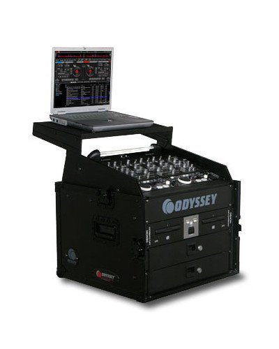 Odyssey FZGS1006BL  Glide Style Case Combo Rack with 10 x 6 Spaces FZGS1006BL