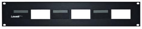 Lowell D3P-ID-2  2RU 3-Hole Decora Rack Panel with Pocket-ID D3P-ID-2