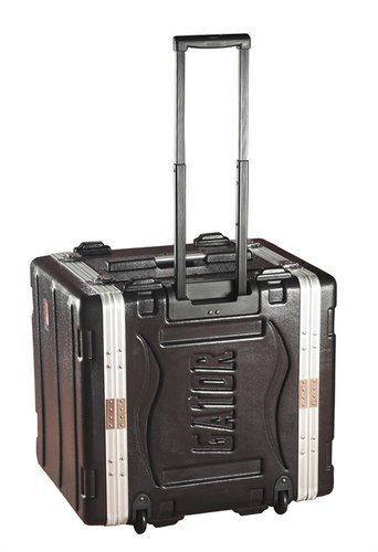 Gator Cases GRR-10PL-US 10-RU Powered Lockable Rack Case with Wheels GRR10PLUS