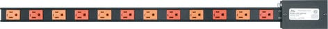 Middle Atlantic Products PDT-2X615S  12-Outlet 2x15A Power Strip PDT-2X615S