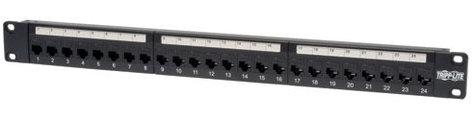 Tripp Lite N254-024  24-Port Cat6 Feed-through Patch Panel N254-024