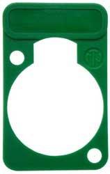 Neutrik DSS-GN Lettering Plate for D-Connectors (Green) DSS-GN