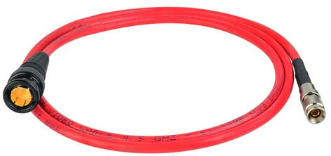 Laird Digital Cinema RD1-DINB-3RD  3' Laird Red One Camera 3G SDI DIN 1.0/2.3 to BNC Male Adapter Cable in Red RD1-DINB-3RD