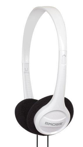 Koss KPH7W Portable On-Ear Headphones in White KPH7W