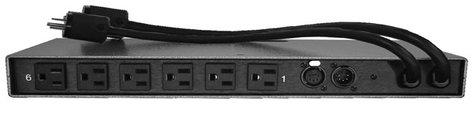"Doug Fleenor Designs DMX6REL30A 6-Channel DMX512 Line Voltage Controlled Relay Pack with 2x 18"" Pigtails DMX6REL30A"