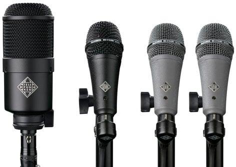 Telefunken Elektroakustik DD4 4 Piece Dynamic Drum Microphone Set DD4-TELEFUNKEN