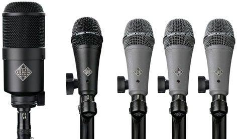 Telefunken Elektroakustik DD5 5 Piece Dynamic Drum Microphone Set DD5-TELEFUNKEN