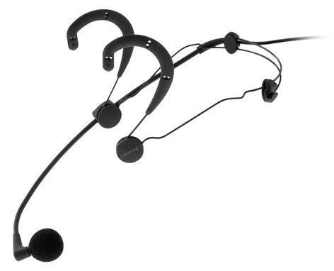 Shure WBH54B Supercardioid headworn condenser mic, black. WBH54B