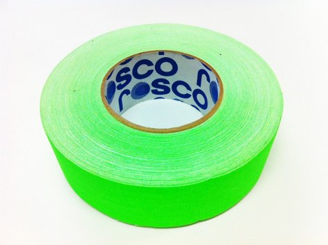 "Rosco Laboratories GaffTac 2"" 48mmx50m Gaffer's Tape in Fluorescent Green GAFFTAC-2""-FLR-GREEN"