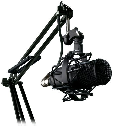 m82 broadcast package large diaphragm dynamic microphone with shockmount boom arm by. Black Bedroom Furniture Sets. Home Design Ideas