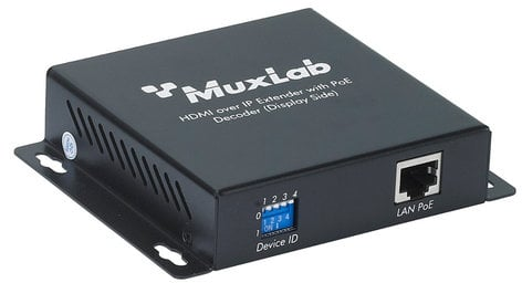 MuxLab 500752-RX HDMI Over IP Decoder with PoE MUX-500752-RX