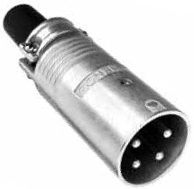 Amphenol EP-4-12 4-Pin XLR Male Cable Connector in Nickel Finish EP-4-12