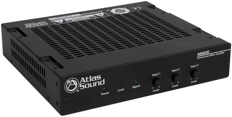 Atlas Sound MA60G 60W 3 Channel Mixer Amplifier MA60G
